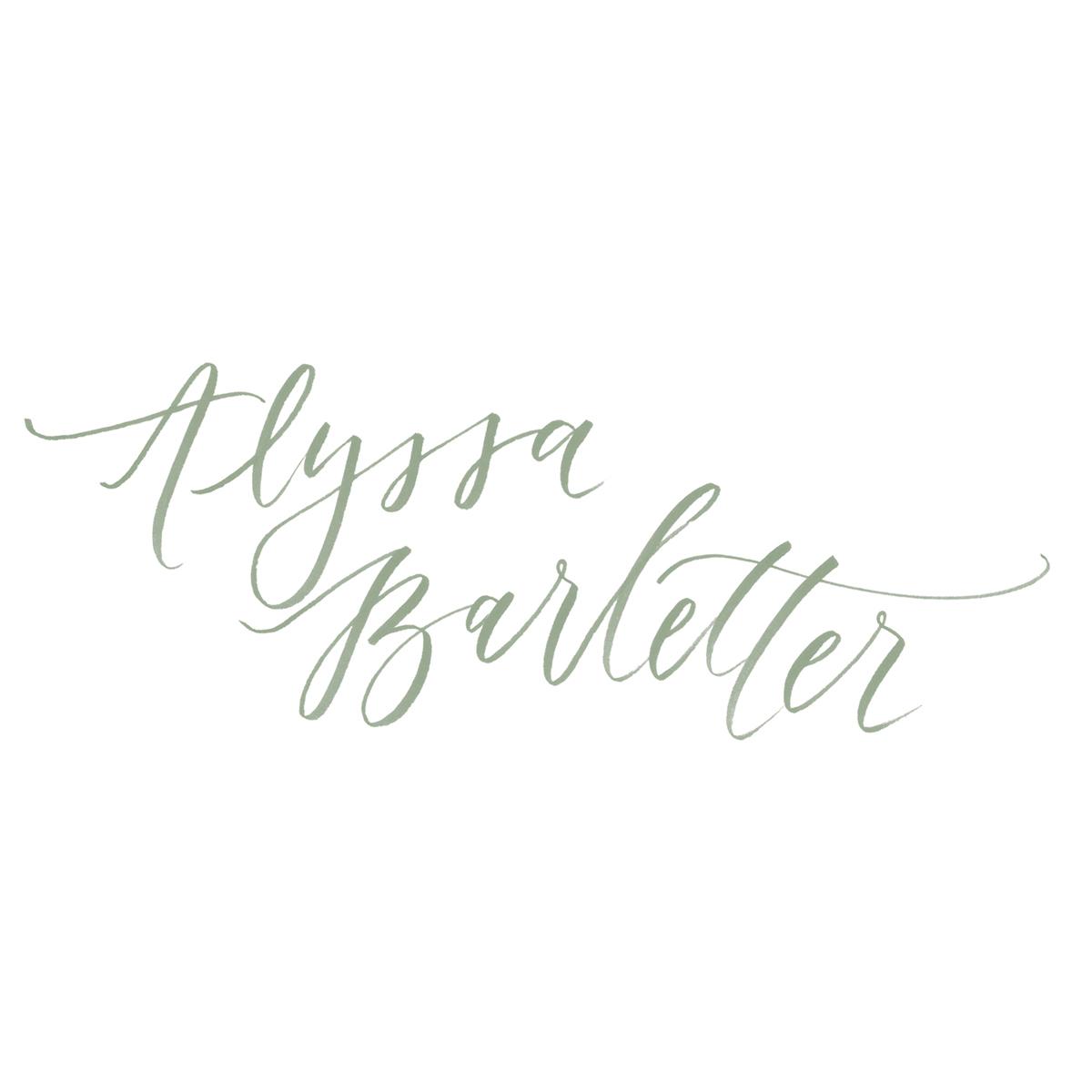 Alyssa Barletter hand-lettered logo