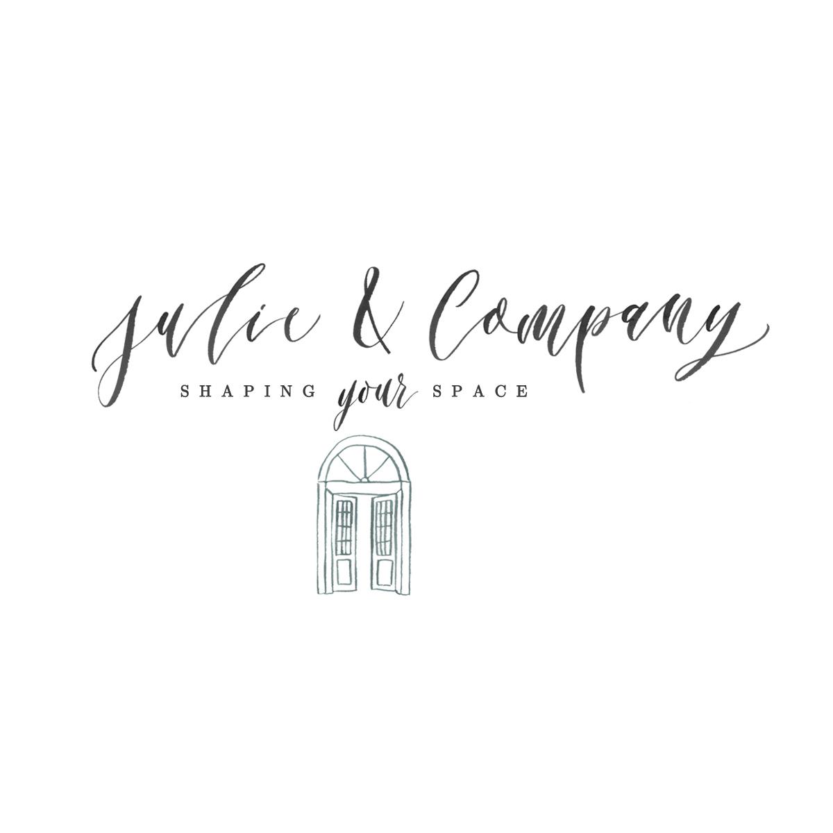 Julie & Company | hand-lettered logo
