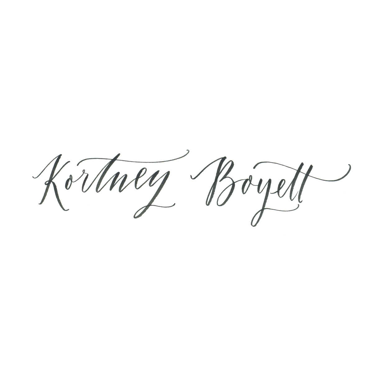 Kortney Boyett hand-lettered logo