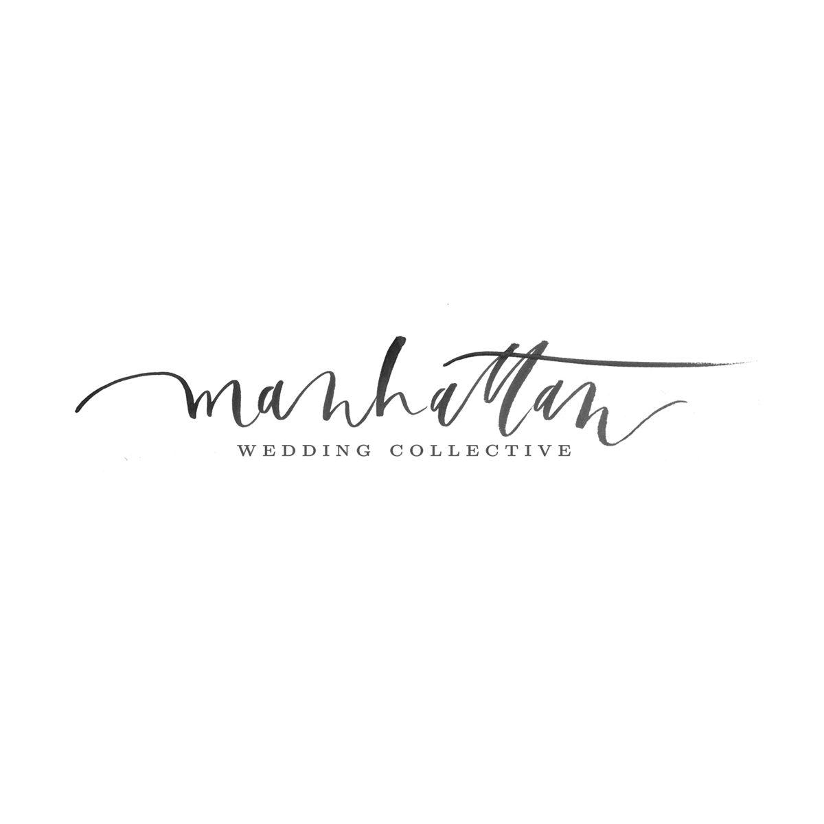 Manhattan Wedding Collective hand-lettered logo