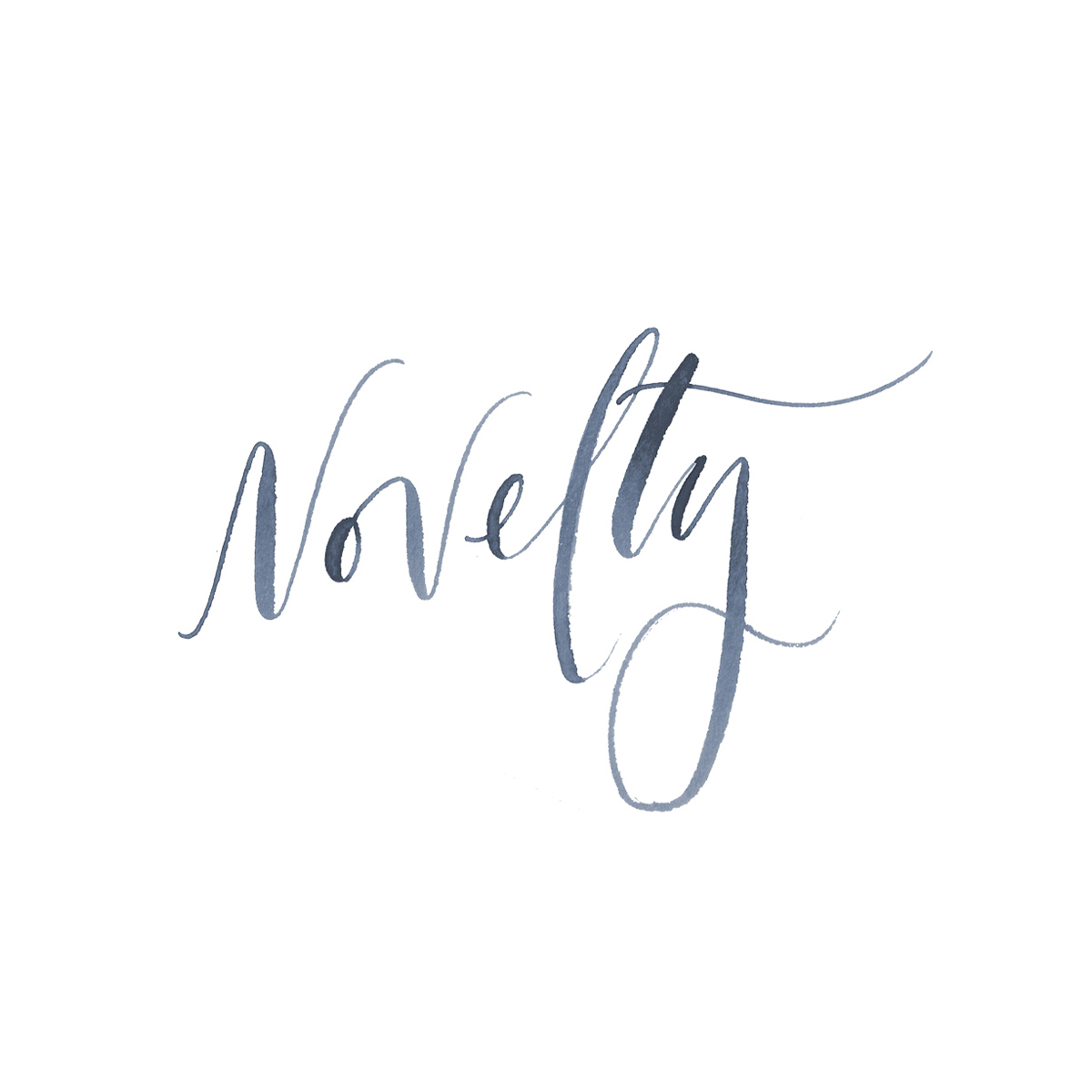 Novelty Events hand-lettered logo