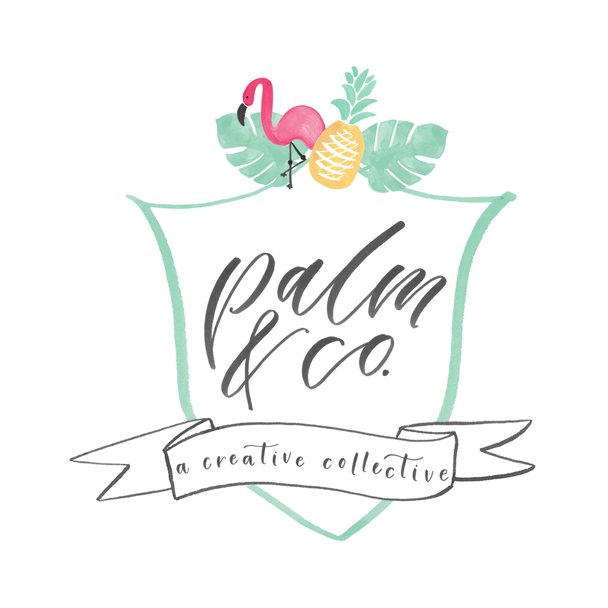 Palm & Co. crest hand-lettered logo