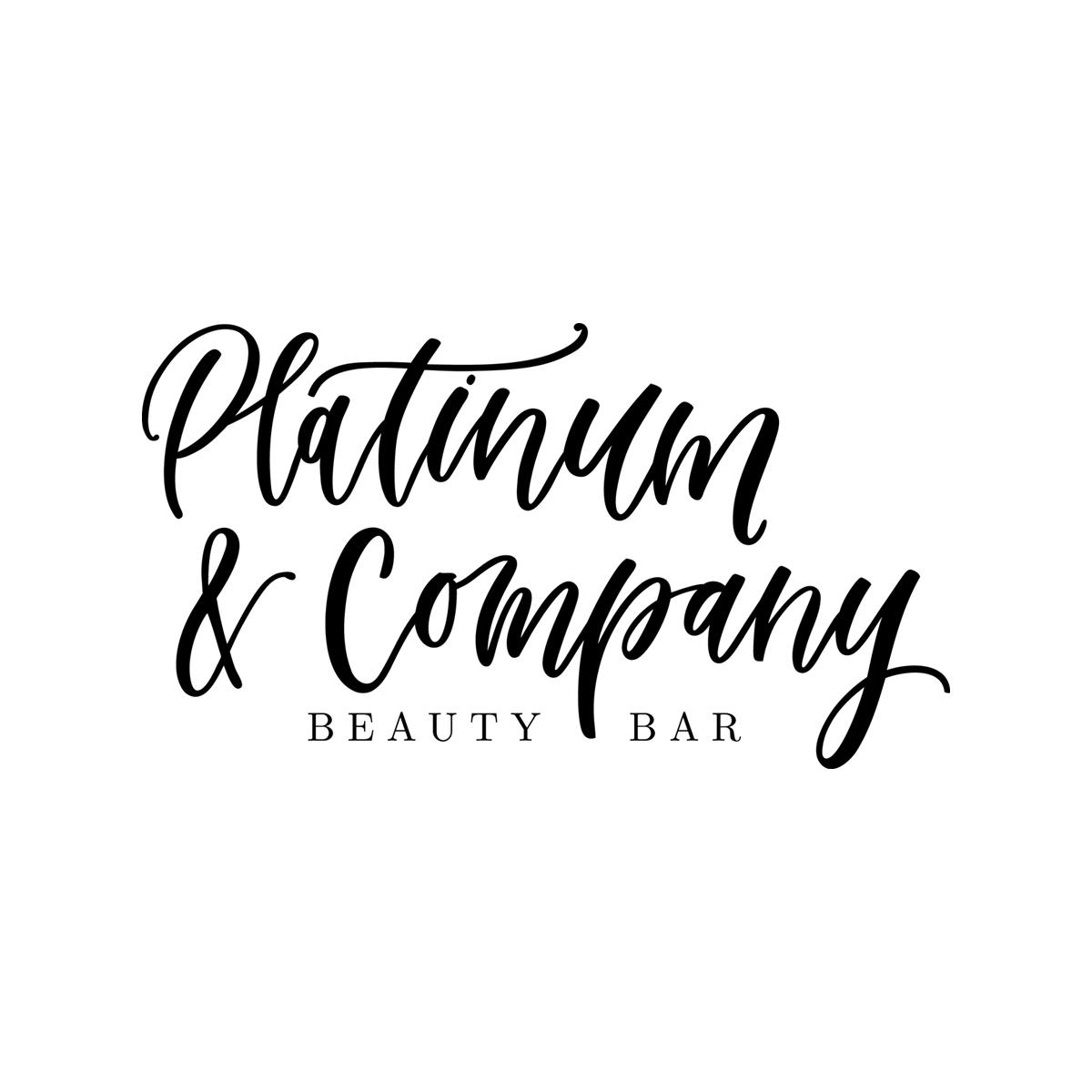 Platinum & Company hand-lettered logo