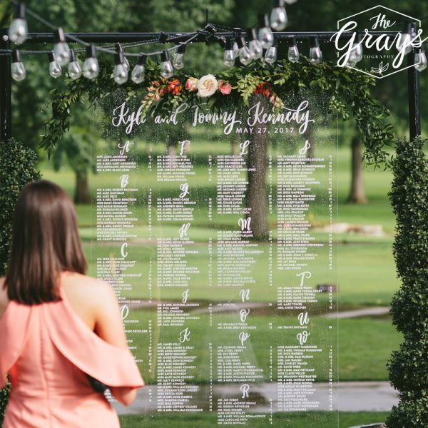 custom hand-lettering for weddings | acrylic seating charts, signage, place cards, invitations