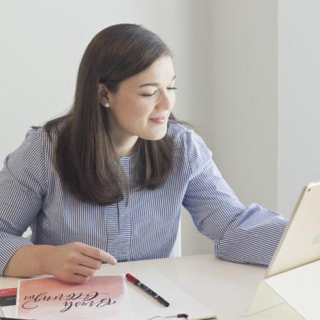 brush-lettering 101 online workshop
