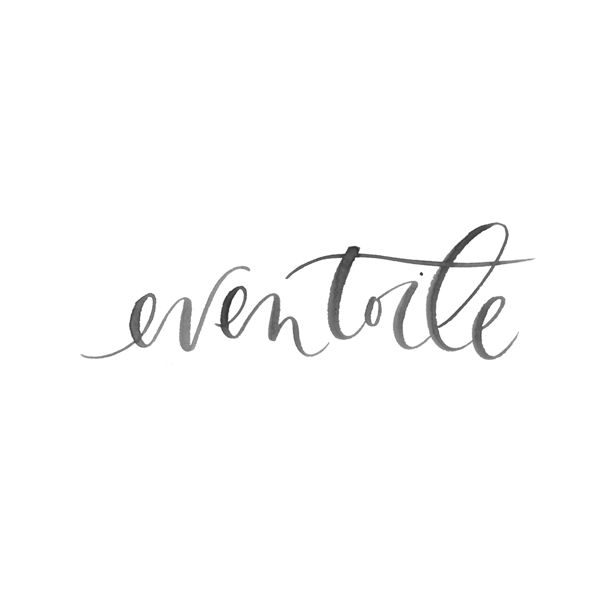 Eventoile hand-lettered logo