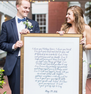 new lettering shop products | semi-custom hand-lettered wedding vows
