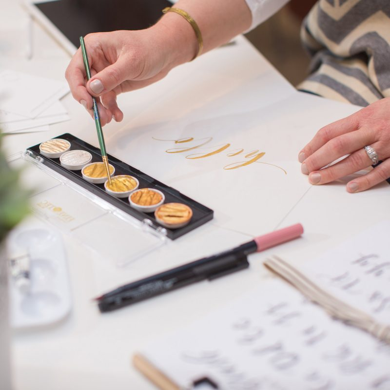 Private hand-lettering workshops | Lauren Heim Studio