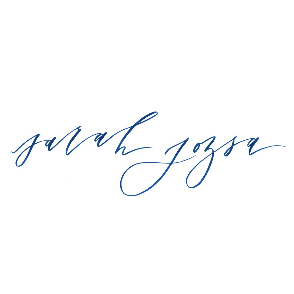 Sara Jozsa hand-lettered logo