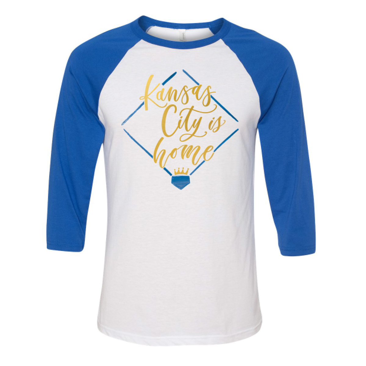 Kansas city is home baseball tee lauren heim studio for Custom shirts kansas city