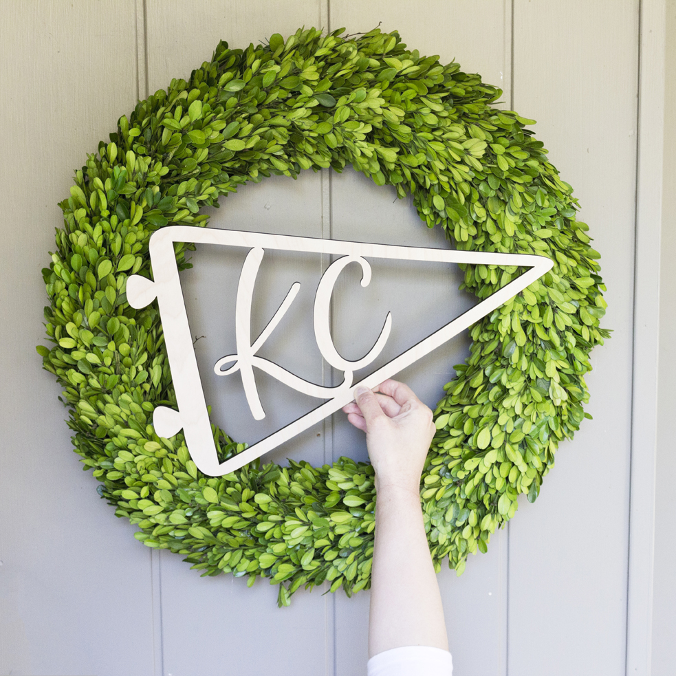 Kansas City Pennant - Laser Cut Sign