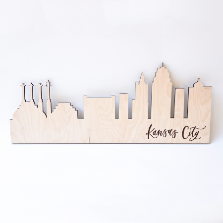 Kansas City Skyline - Laser Cut Sign