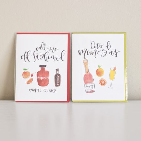 Call me Old Fashioned + Let's do Mimosas greeting cards