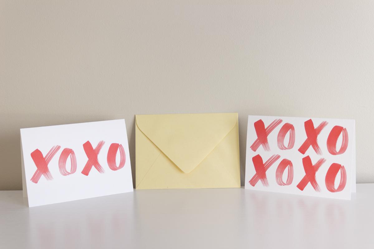 XOXO greeting cards