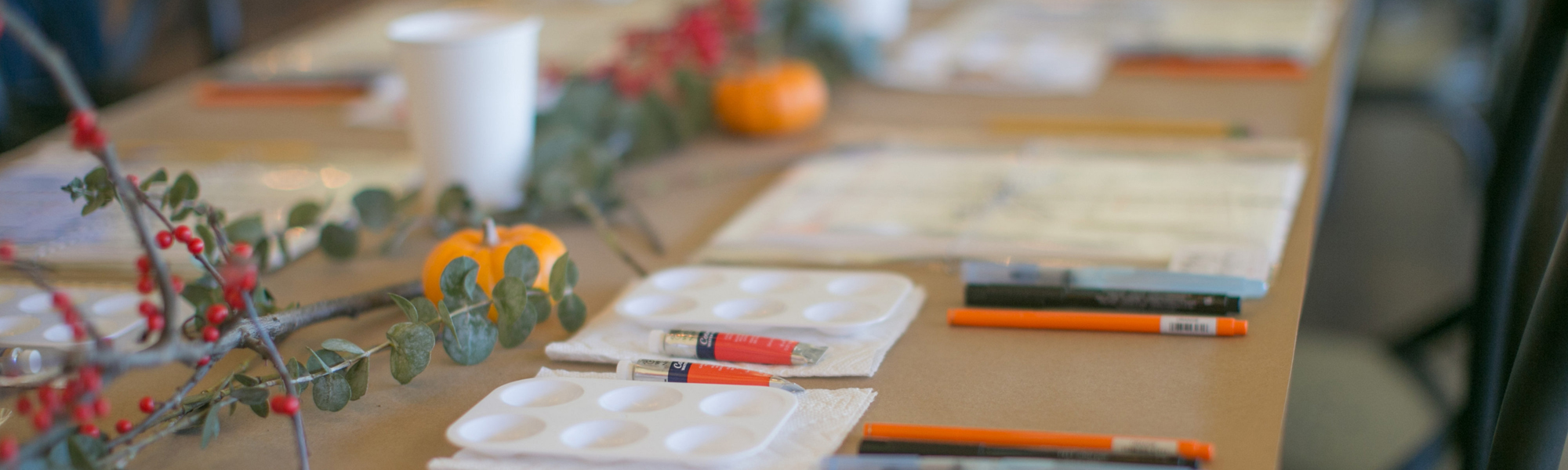 in-person hand-lettering workshop - brush lettering and water brush lettering supplies