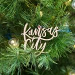 Kansas City skyline Christmas ornaments by local artist Lauren Heim