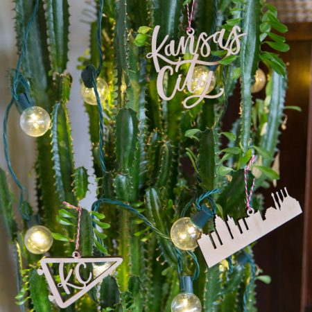 Kansas city Christmas tree ornaments by local artist Lauren Heim Studio
