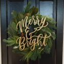 Merry & Bright Holiday Sign