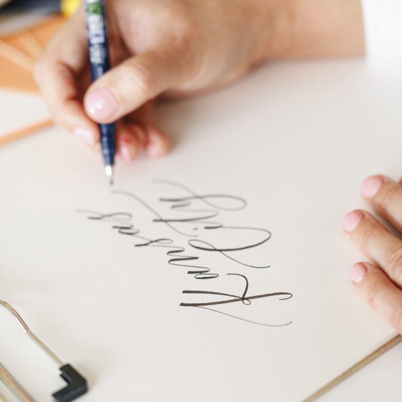 Corporate Groups Bachelorette Party Bridal Shower Private Lettering Workshop Kansas City