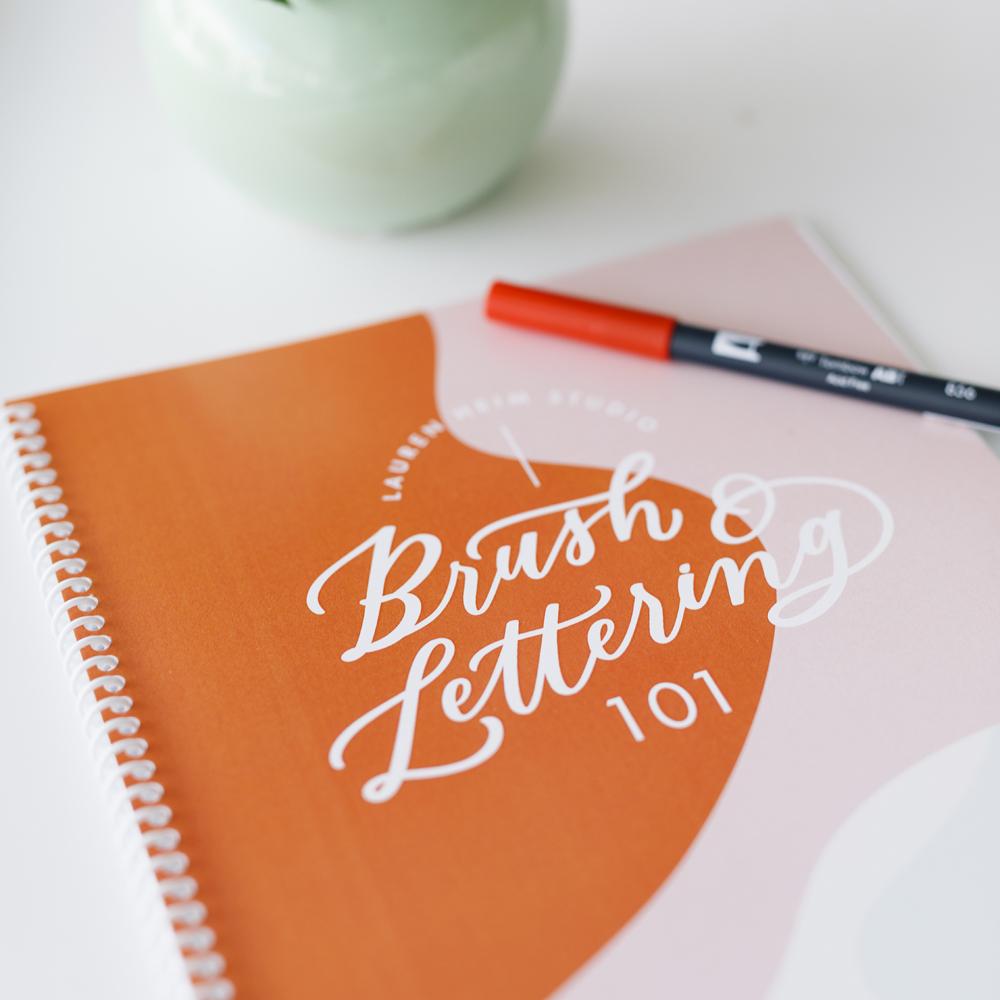 Brush Lettering 101 Workshop in Kansas City in October 2019