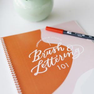 Online Tombow Brush Lettering class with workbook