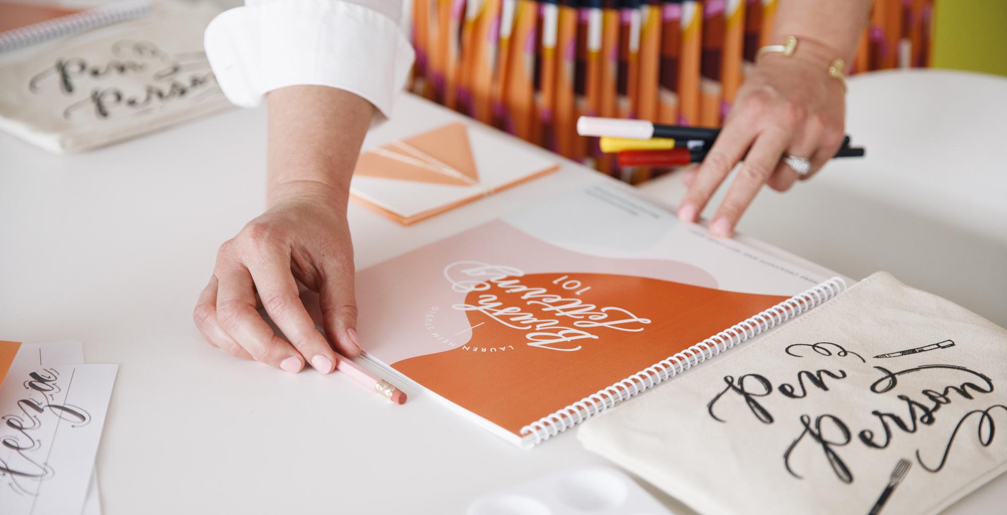 Hand lettering workshops in Kansas City