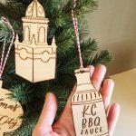 Kansas City BBQ sauce Christmas ornament
