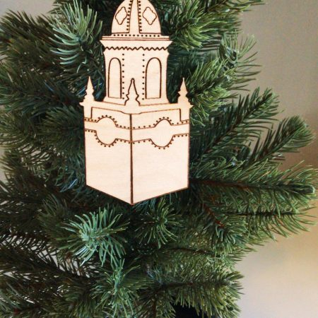 Kansas City plaza lights wood ornament for your Christmas tree