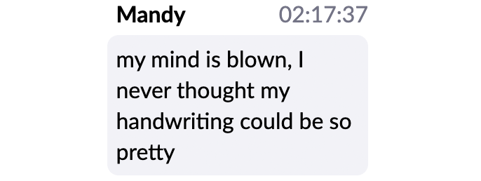 Virtual workshop testimonial Mandy